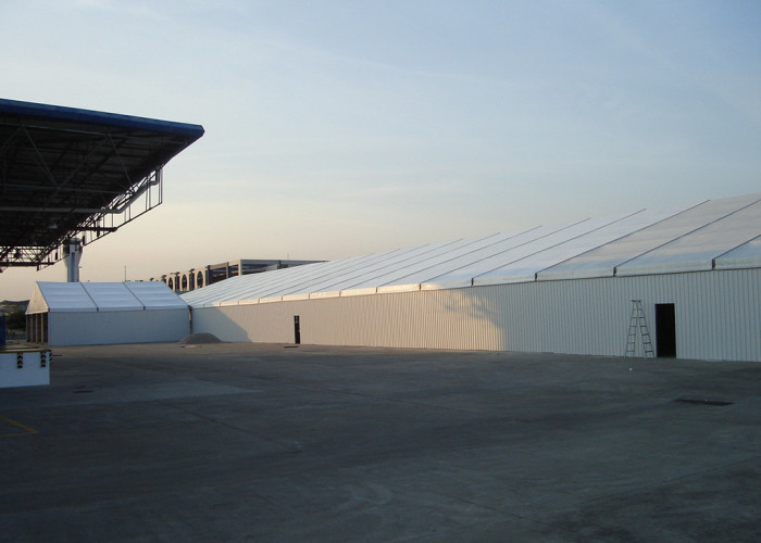 Long Life Span Industrial Warehouse Canopy Tent With Hard Steel Sheet Walls