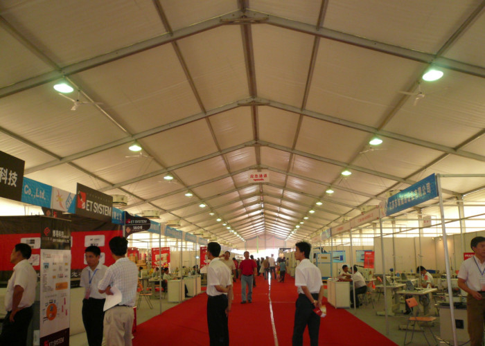 Fire Resistant Auto Trade Show Tents Displays Durable PVC Coating Fabric
